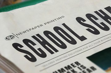 School Schedule Newspaper Printing