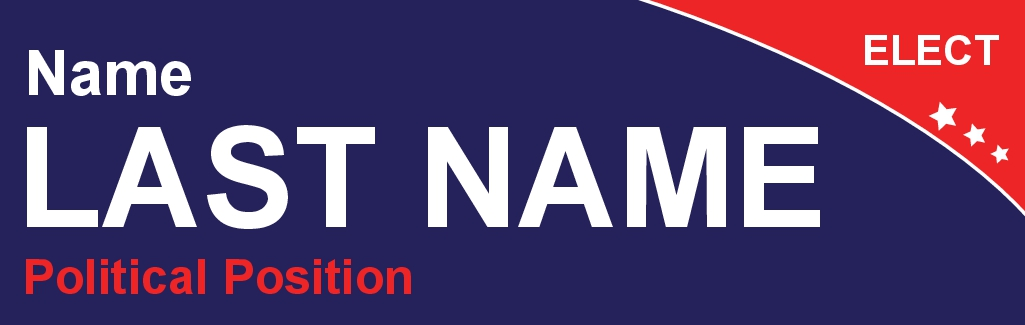 Size 10 x 3 bumper sticker card name pcs002 10x3