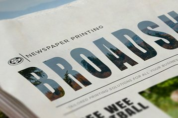 Broadsheet Newspaper Printing