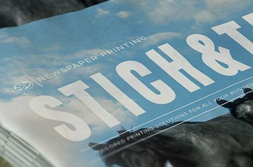 Stitch and Trim Newspaper