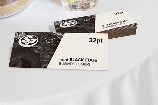 Mini Painted Edge Business Cards