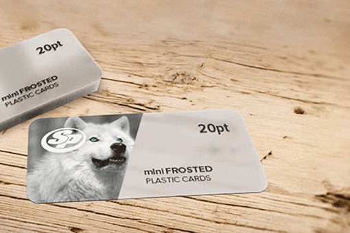 Mini Frosted Plastic  Business Cards