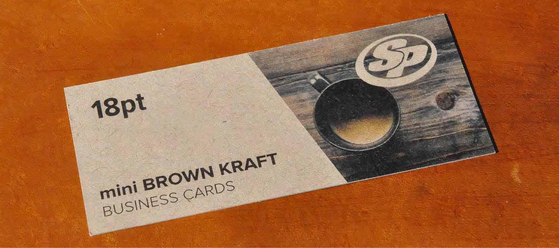 Mini Brown Kraft Business Cards | Stigler Printing