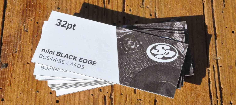 Mini Painted Edge Business Cards | Stigler Printing