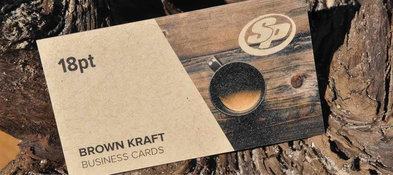 Brown Kraft Business Cards | Stigler Printing