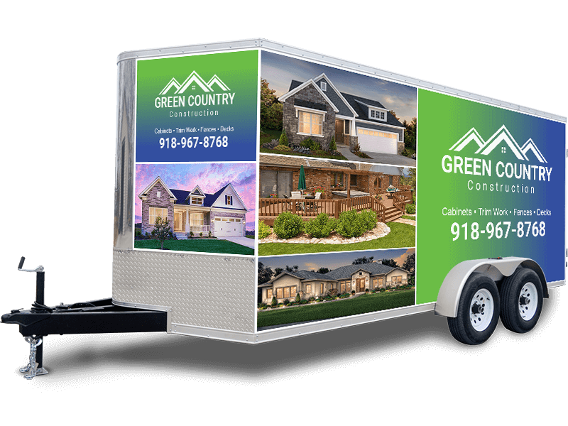 Full color wrap trailer graphics